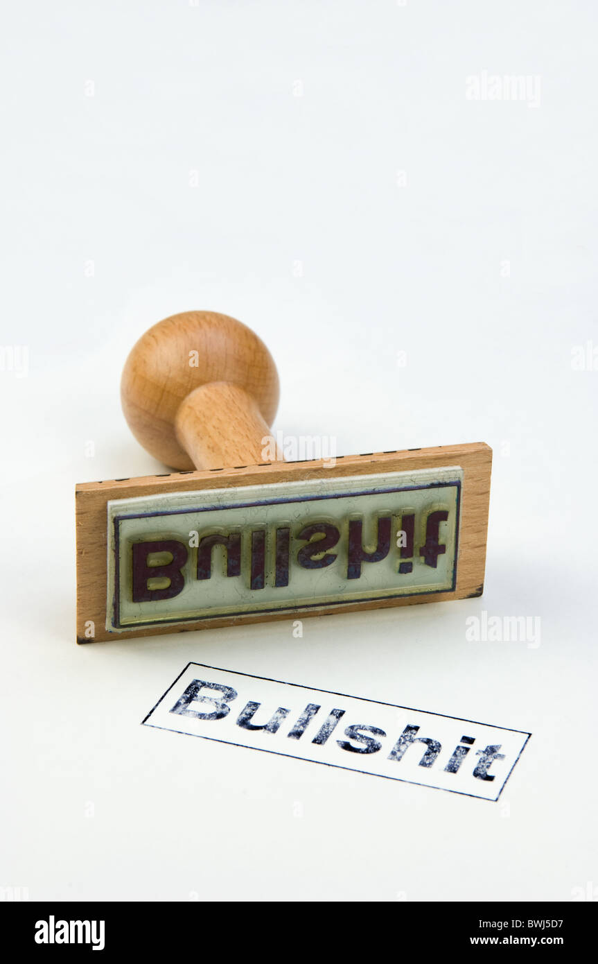 Stamp bullshit Stock Photo