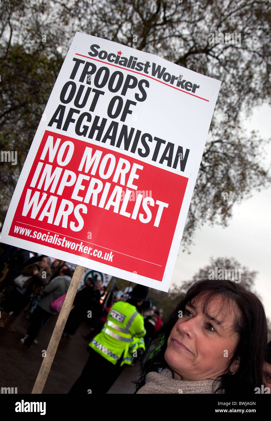 Anti-Afghanistan war demonstration in London - Stock Image