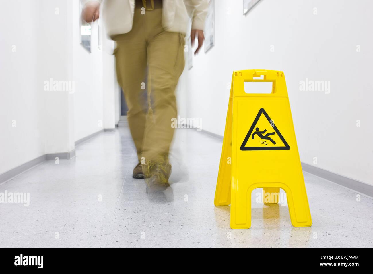 Slip danger Stock Photo