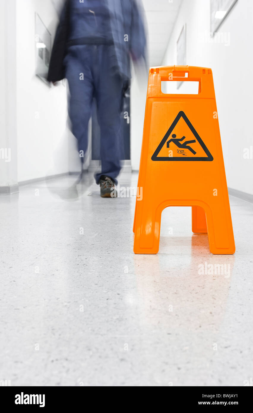 Slip danger Stock Photo