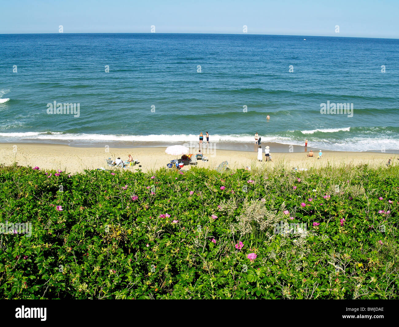 Nauset Light Beach, Cape Cod National Seashore, Cape Cod - Stock Image