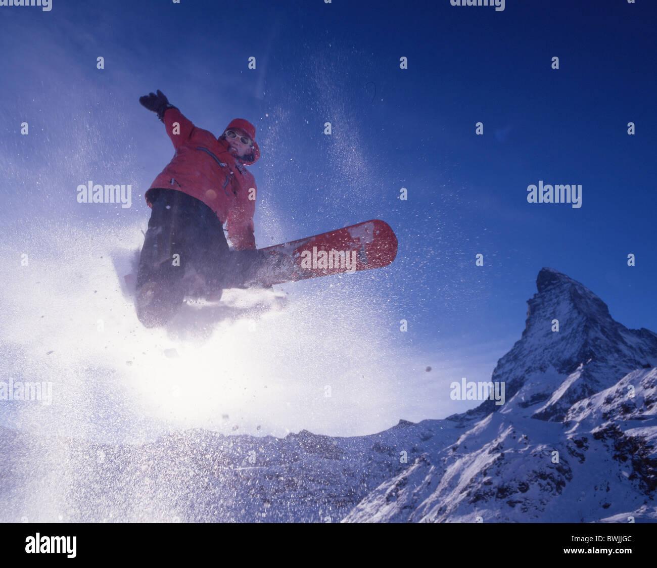 Snowboarder Snowboard Snowboarding Jump Free Riding Winter