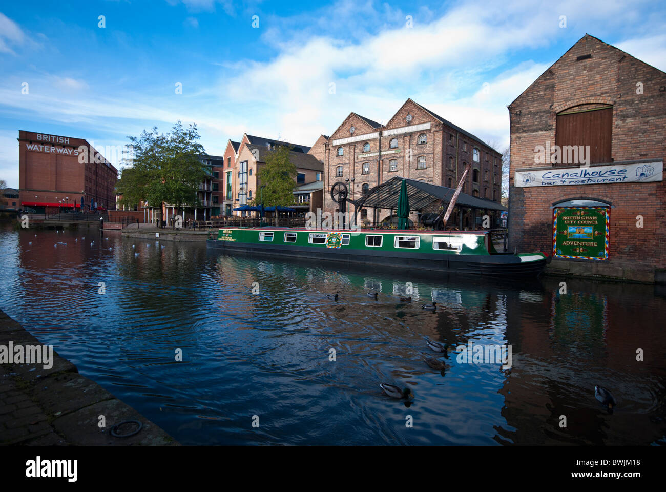 The Nottingham Canal, Nottingham, England UK. - Stock Image