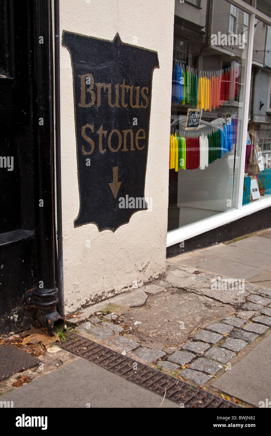 The Brutus stone, Totnes, Devon, England. - Stock Image