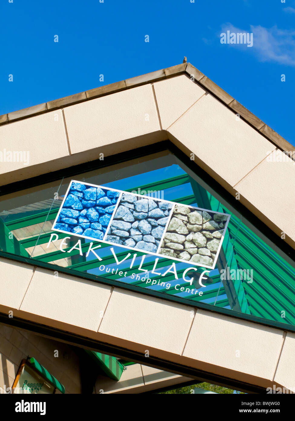 brand new 168d4 6f7ea Sign at entrance to Peak Village Outlet Shopping Centre at ...