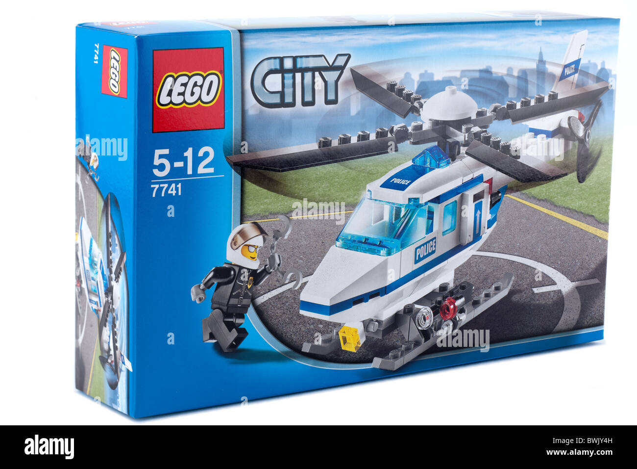 Boxed lego toy police helicopter for children aged 5 to 12 - Stock Image