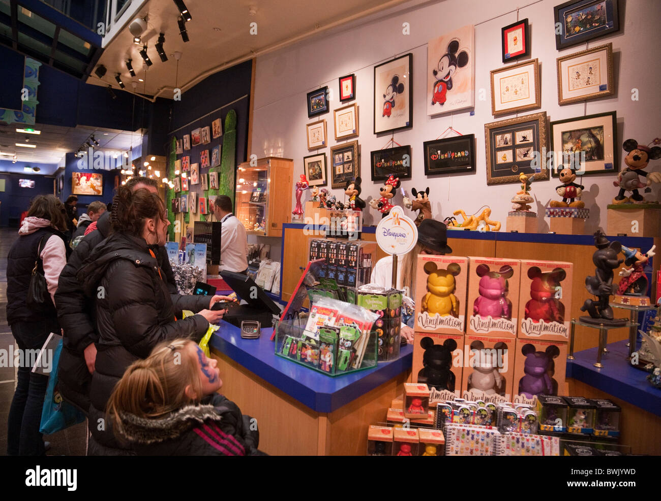 People Shopping In The Disney Store The Village Disneyland Paris Stock Photo 32993785 Alamy