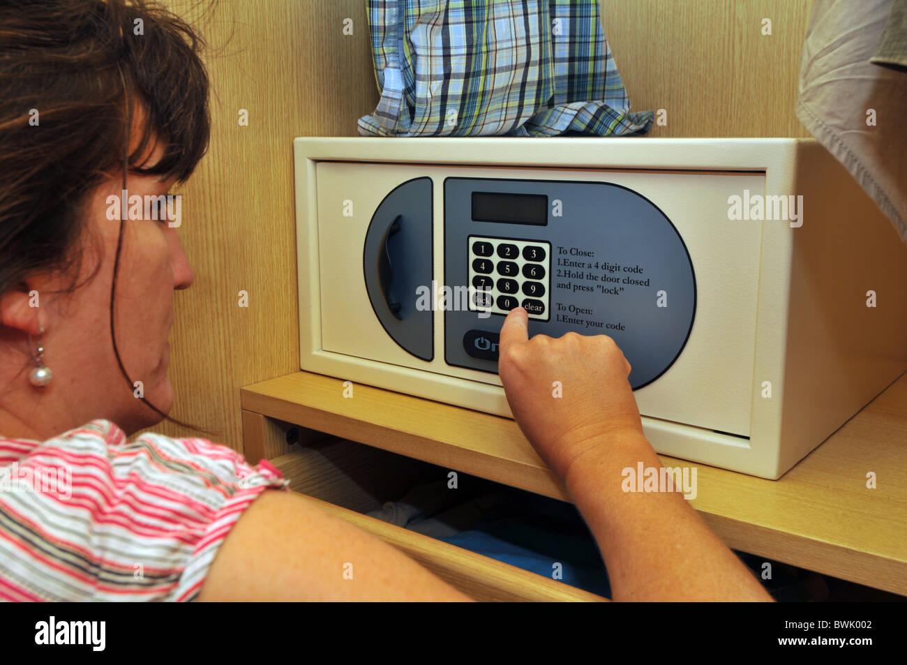 Safe, hotel safe, motel safe, security safe - Stock Image