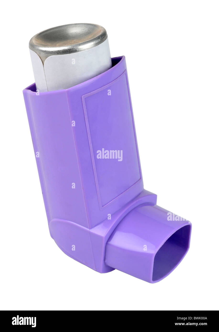 "Inhaler, asthma inhaler or puffer on ""white background"" - Stock Image"
