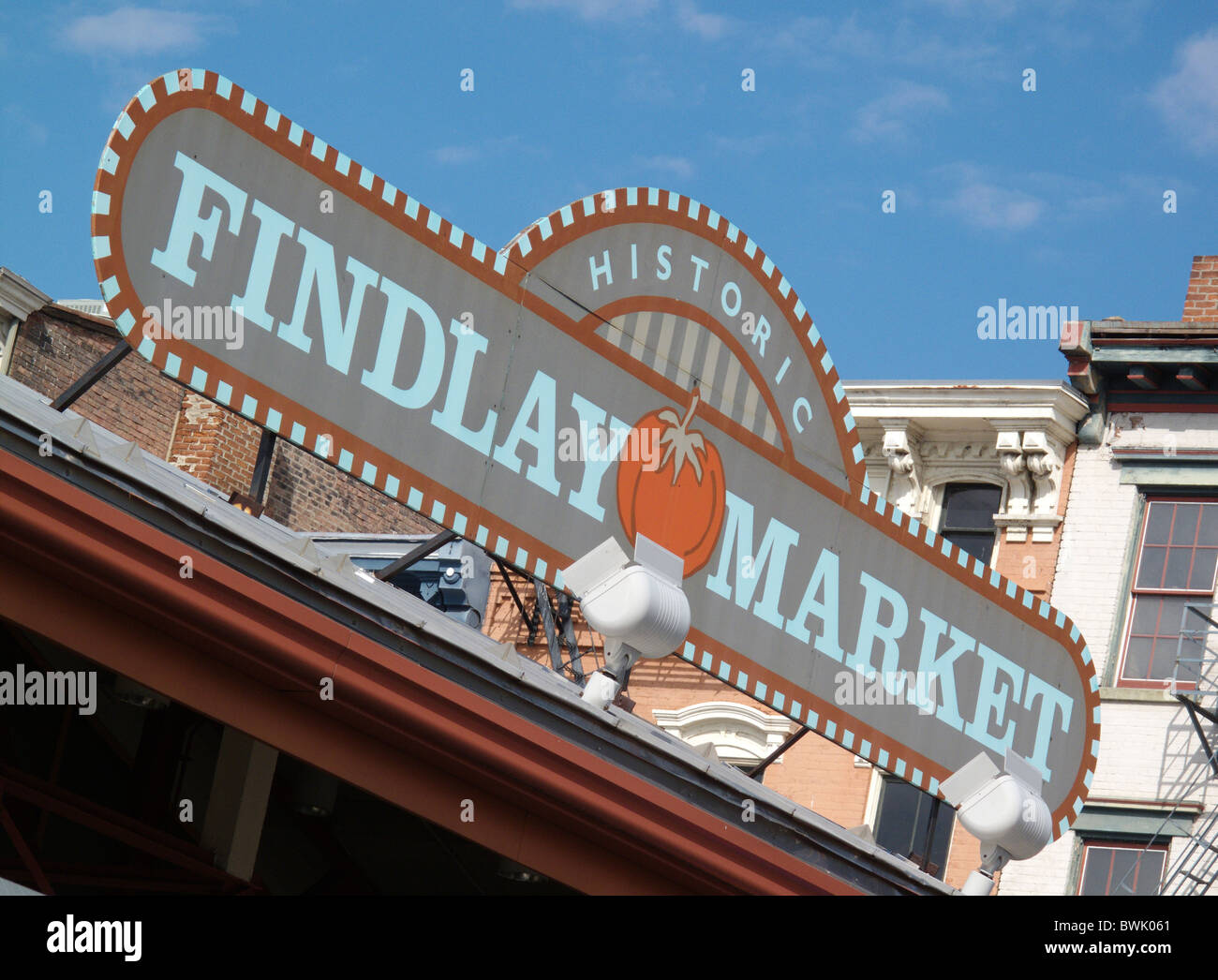 The historic Findlay Market in Cincinnati in Ohio, United States of America Stock Photo