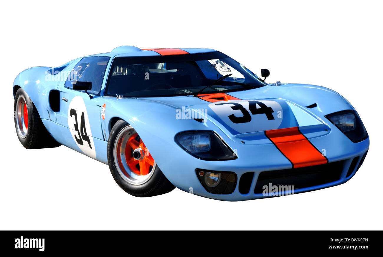 GT40 sports car, Ford GT40 - Stock Image