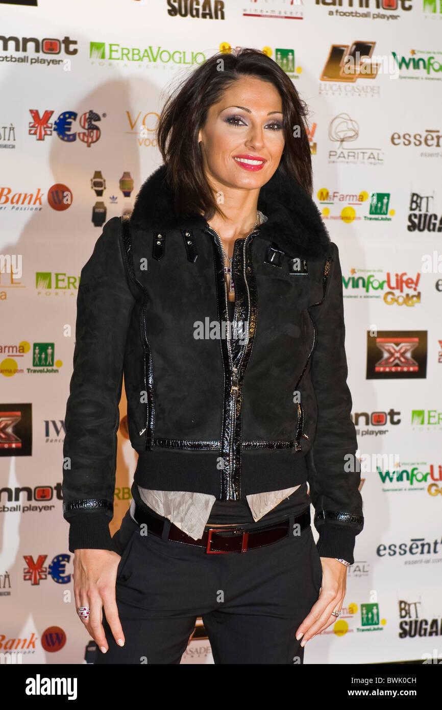 Anna Tatangelo, X Factor Red Carpet, Milan 2010 - Stock Image