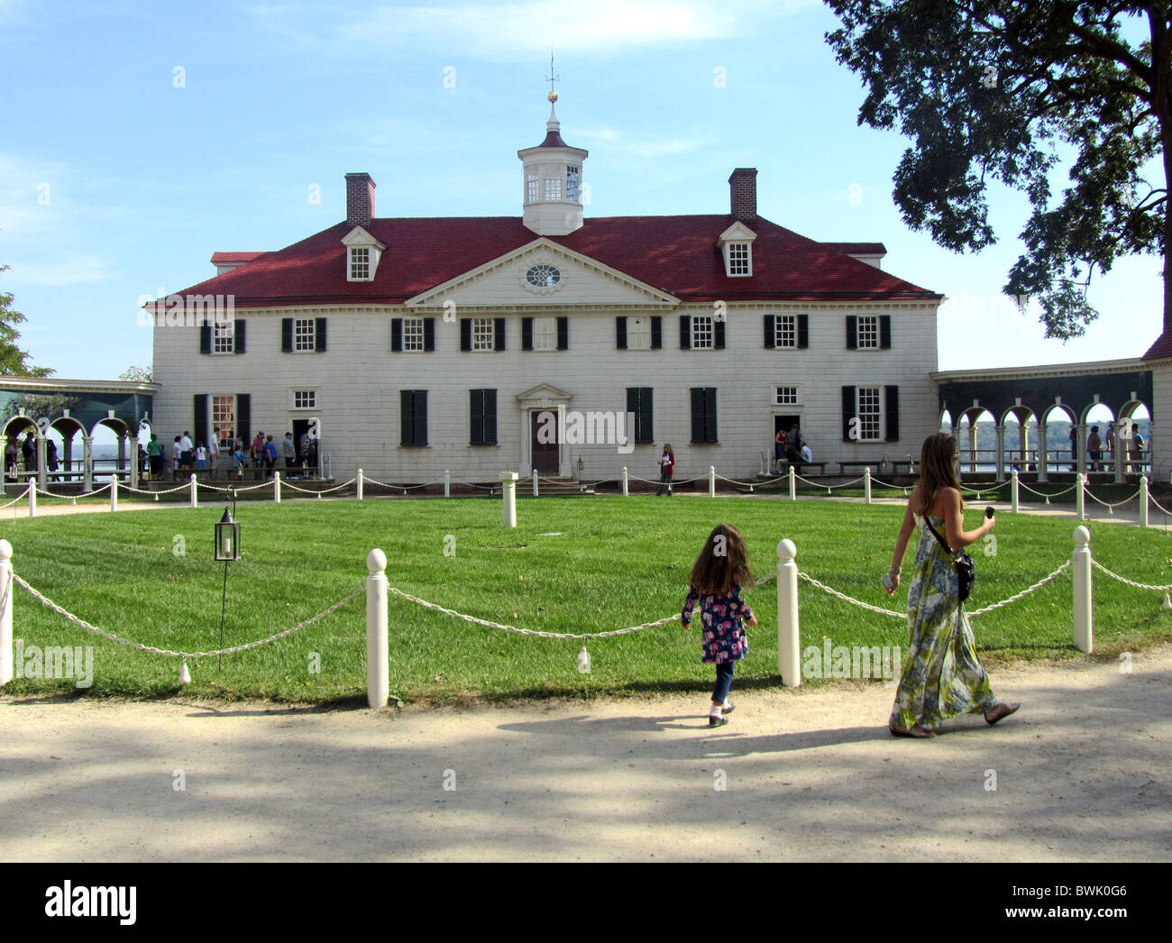 Mount Vernon, the plantation home of George Washington, first President of the United States, Virginia, America - Stock Image