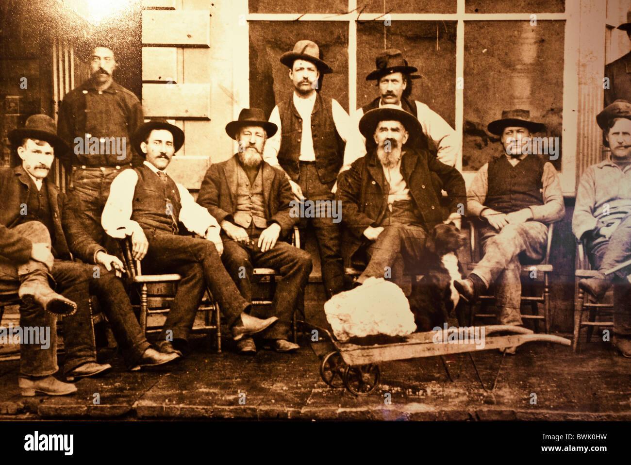 Historical photograph, Rico, Colorado - Stock Image