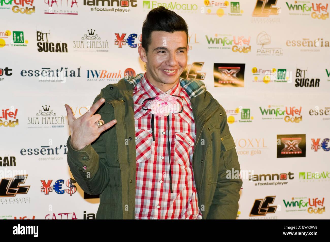 DJ Diego Passoni, X Factor Red Carpet, Milan 2010 - Stock Image