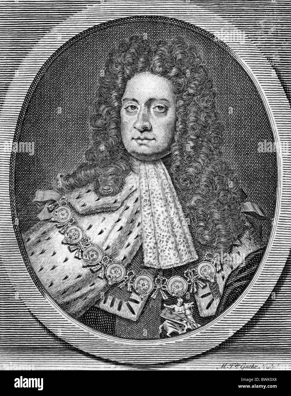 King George II of England 1683 - 1760. - Stock Image
