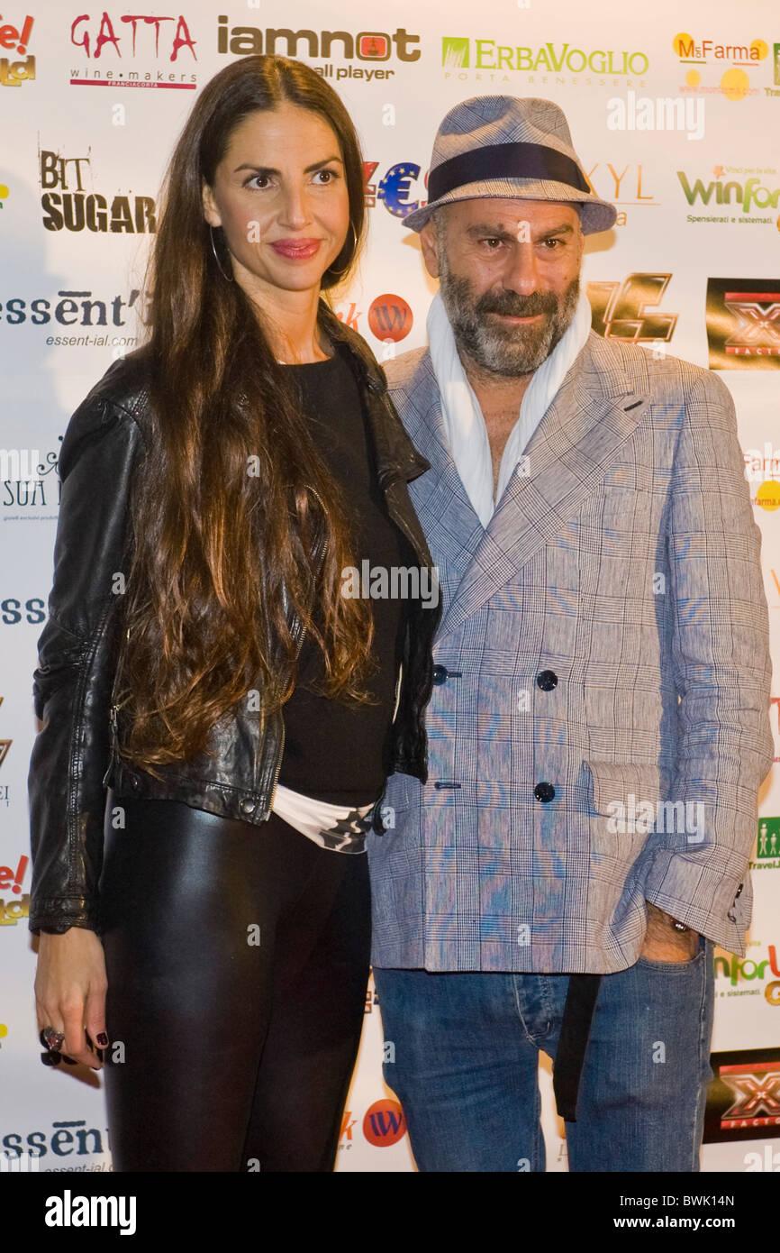Pierpaolo Peroni, Benedetta Mazzini, X Factor Red Carpet, Milan 2010 - Stock Image
