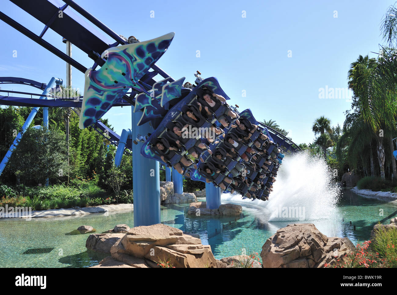 Manta ride Seaworld Orlando Florida Stock Photo