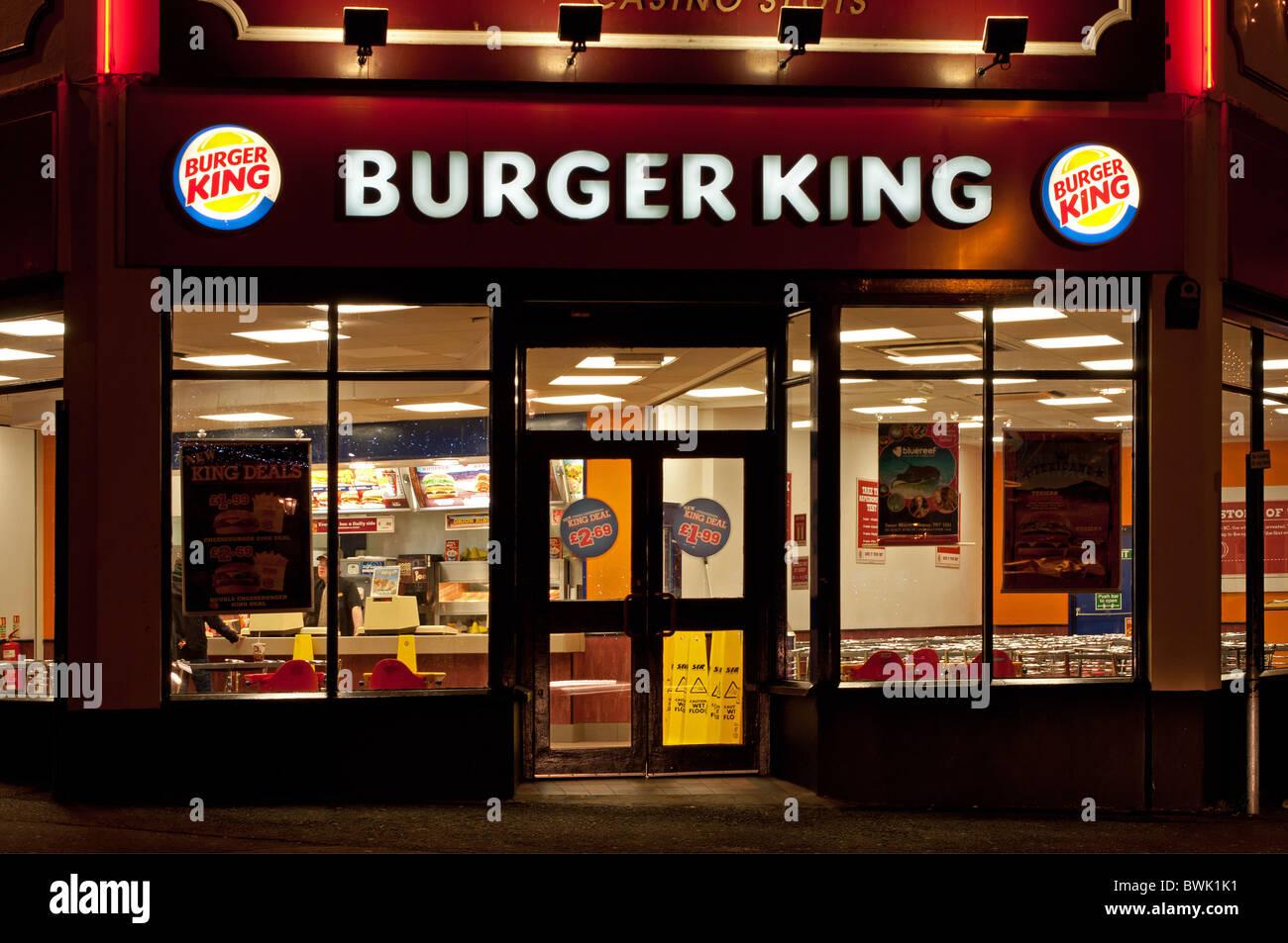 a burger king restuarant in cornwall, uk - Stock Image