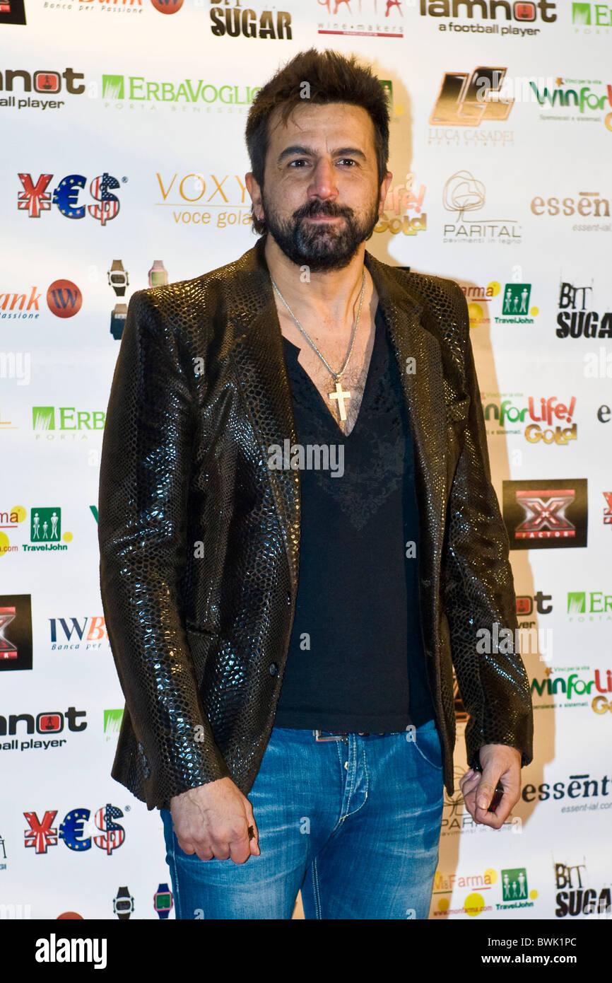 Omar Pedrini, X Factor Red Carpet, Milan 2010 - Stock Image