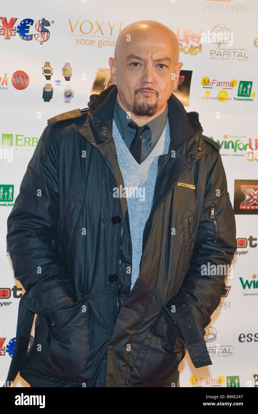 Enrico Ruggeri, X Factor Red Carpet, Milan 2010 - Stock Image
