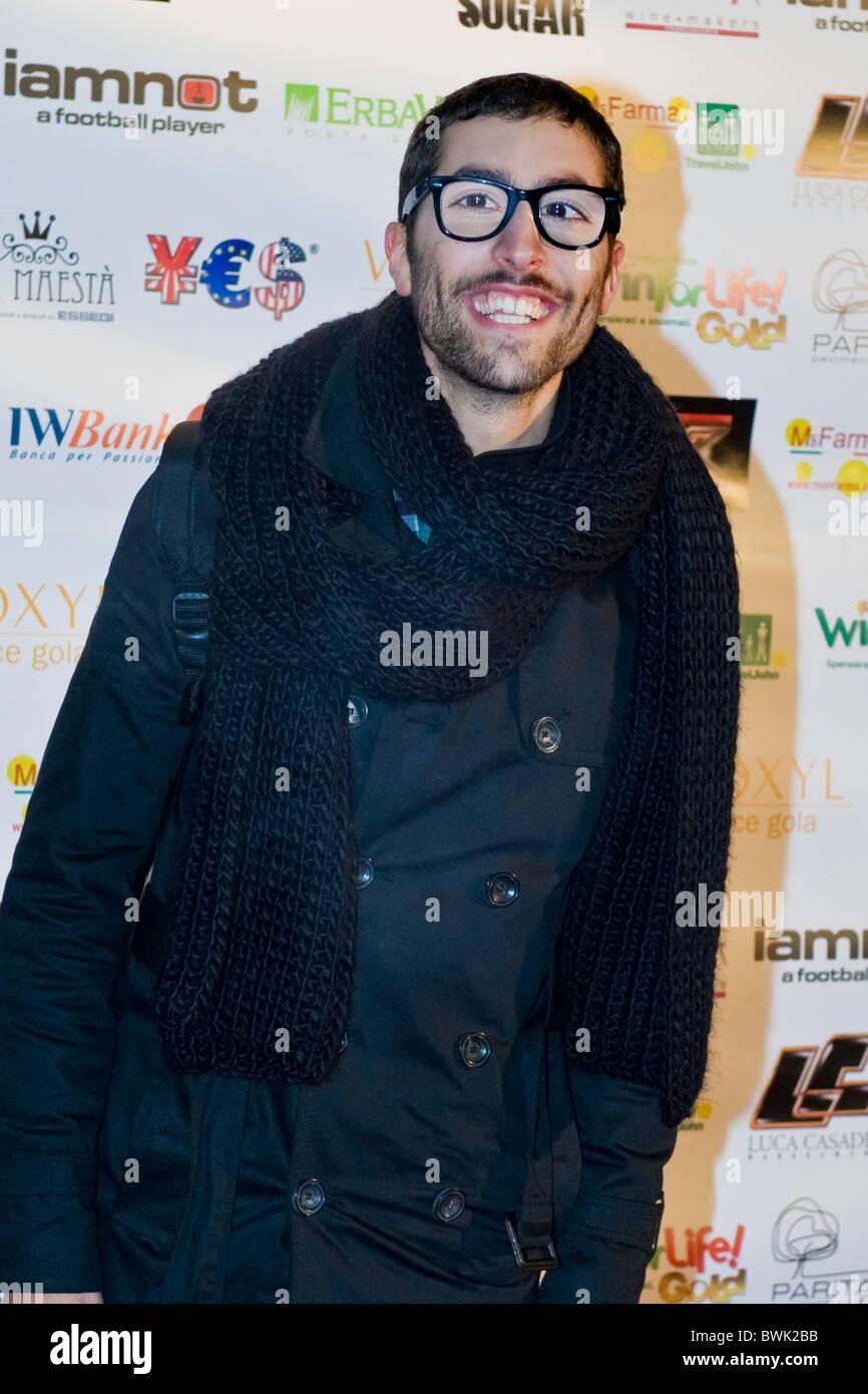 Stefano, X Factor Red Carpet, Milan 2010 - Stock Image
