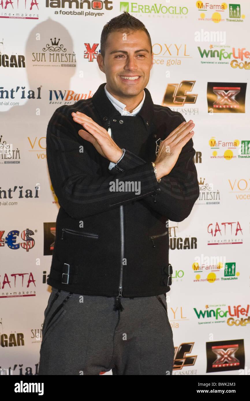 Daniele Battagla, X Factor Red Carpet, Milan 2010 - Stock Image