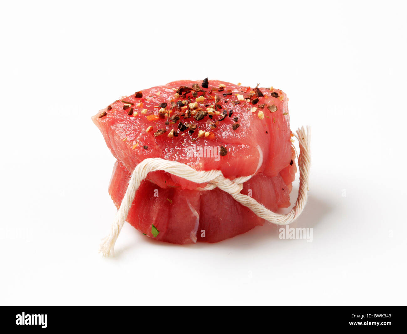 Raw pork tenderloin steak Stock Photo