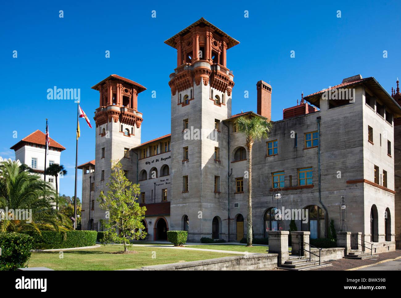 City Hall and Lightner Museum, King Street, St Augustine, Florida, USA - Stock Image