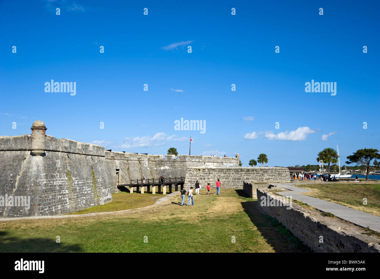 Castillo San Marcos, St Augustine, Florida, USA Stock Photo ...