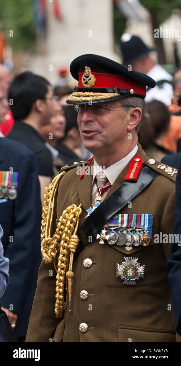 General Sir David Richards, Head of the British Army at the 65th Anniversary of the Victory overJapan in 2nd WW. - Stock Image