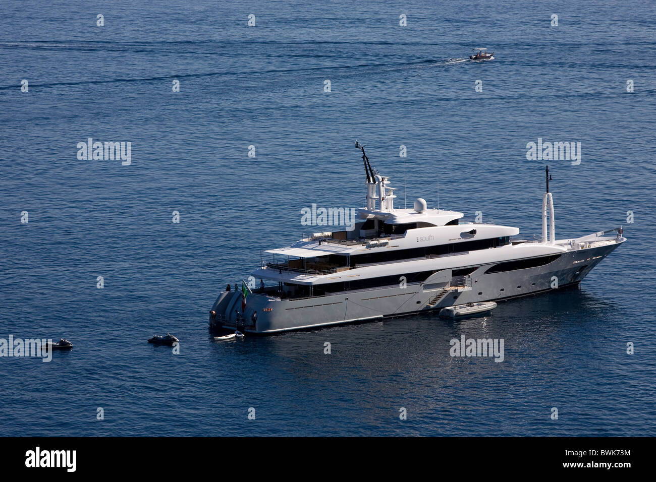 Yacht of the fashion designers Dolce & Gabbana, D & C, water sports, luxury yacht, Taormina, province of - Stock Image