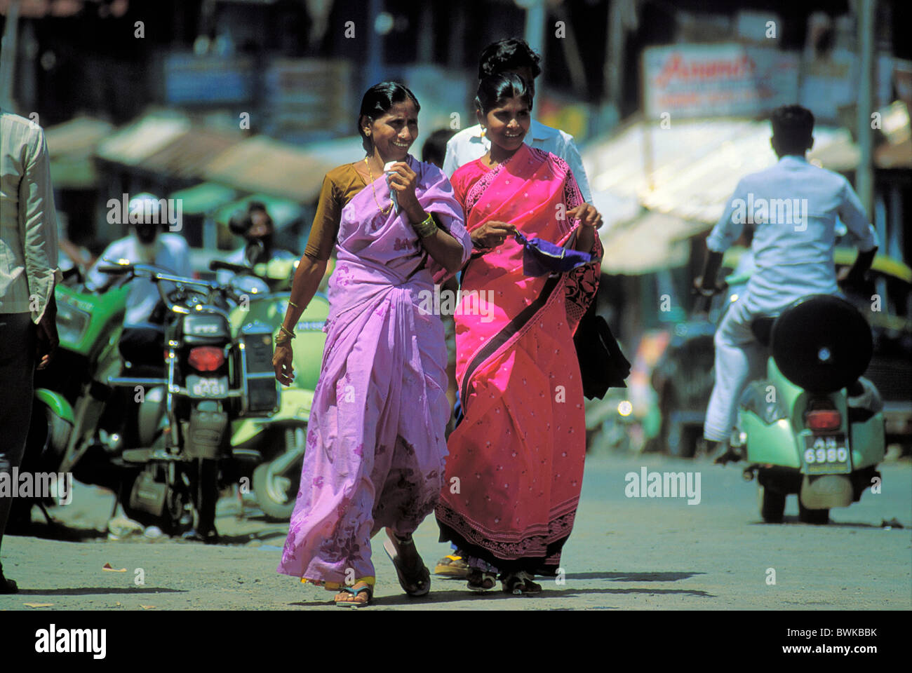 India Asia Andamanen people street scene - Stock Image