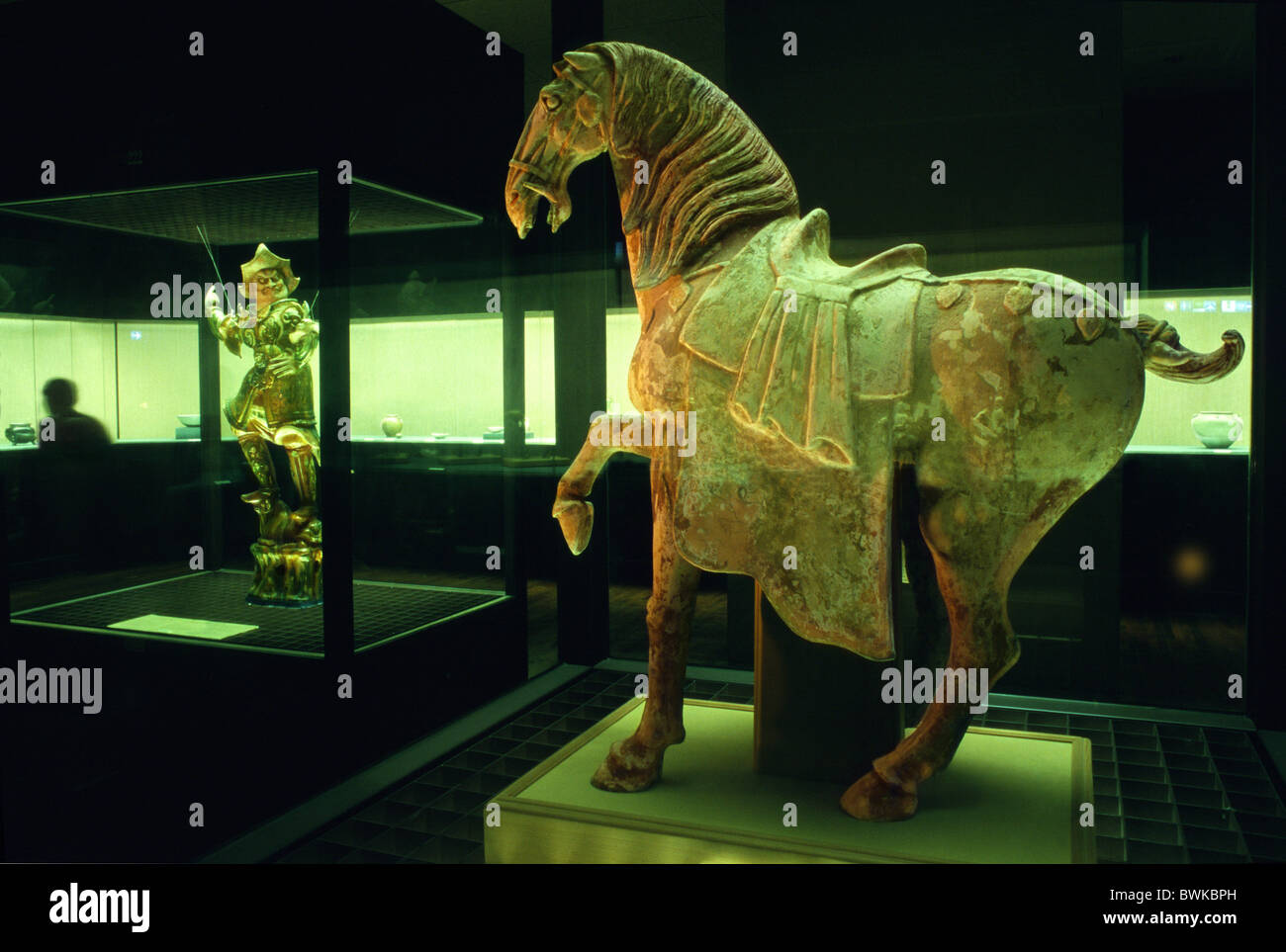 Antique horse statue at National Palace Museum, Taipei, Taiwan, Asia - Stock Image
