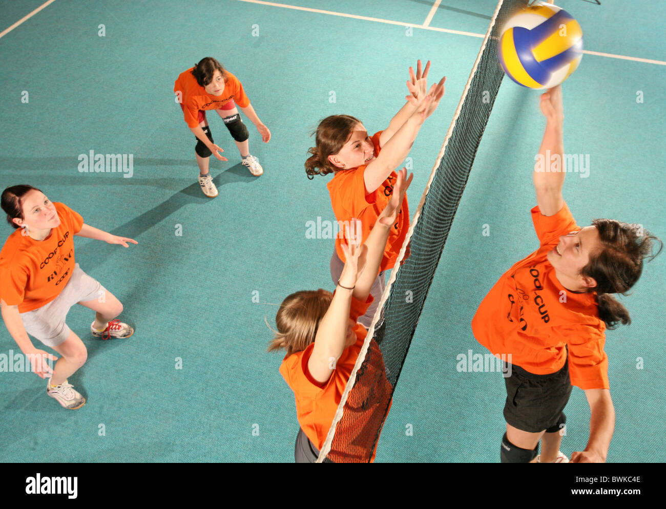 Active Young Women Volleyball Player Sport Stock Vector: Volleyball School Stock Photos & Volleyball School Stock