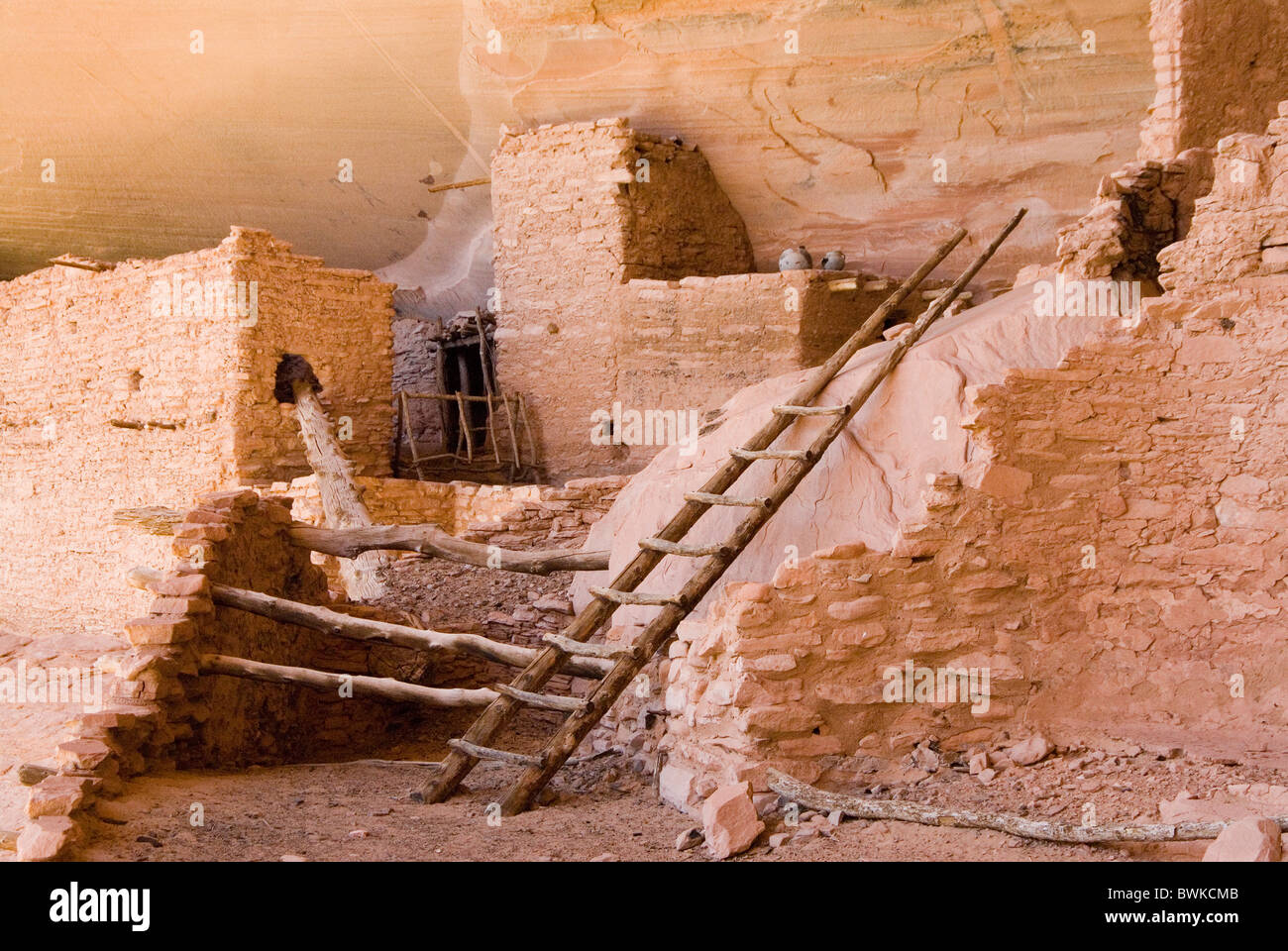 Keet Seel ruins ruins rocks settlement Anasazi culture Native Americans Indian native Navajo national monumen - Stock Image