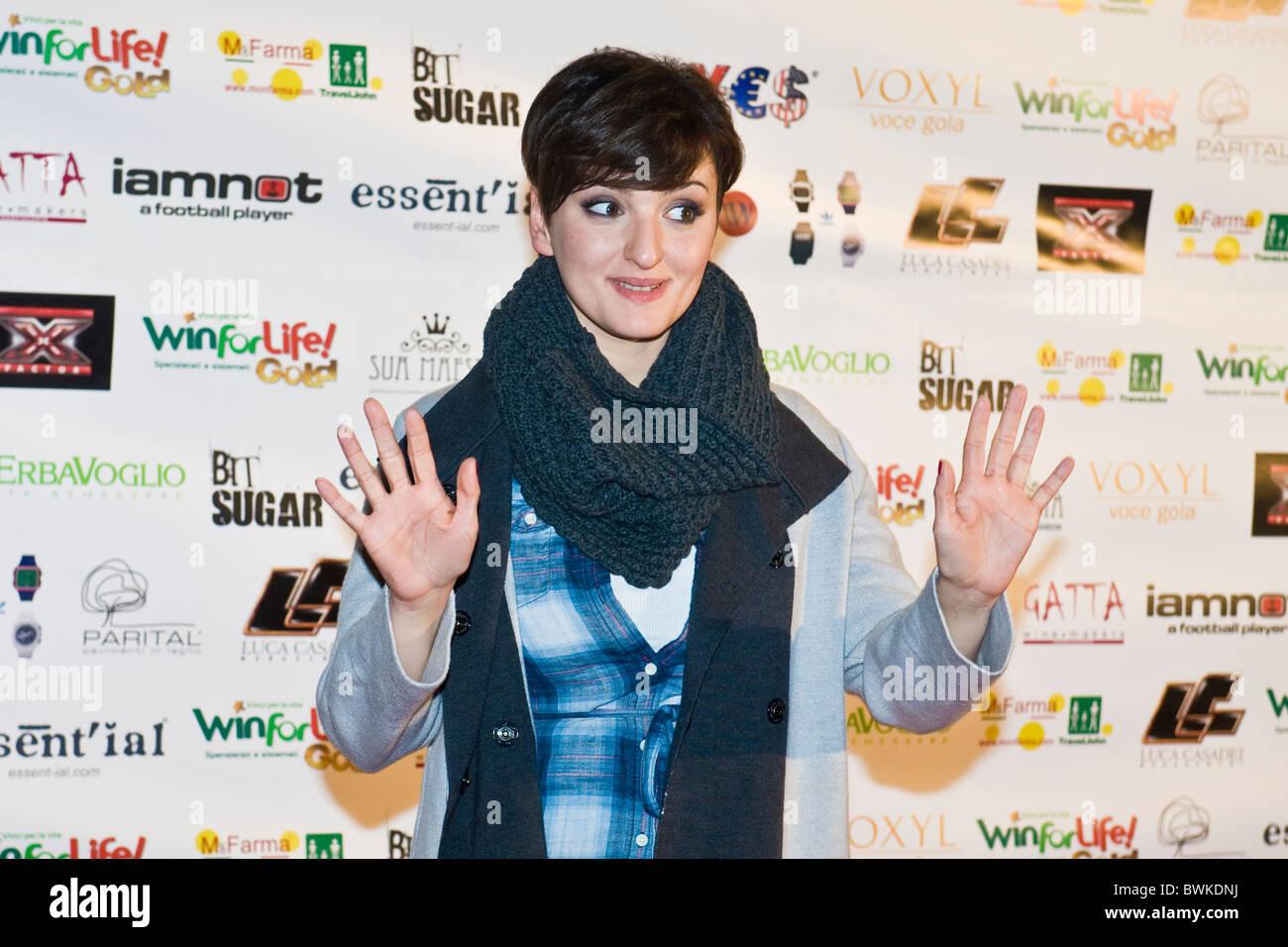 Arisa, X Factor Red Carpet, Milan 2010 - Stock Image
