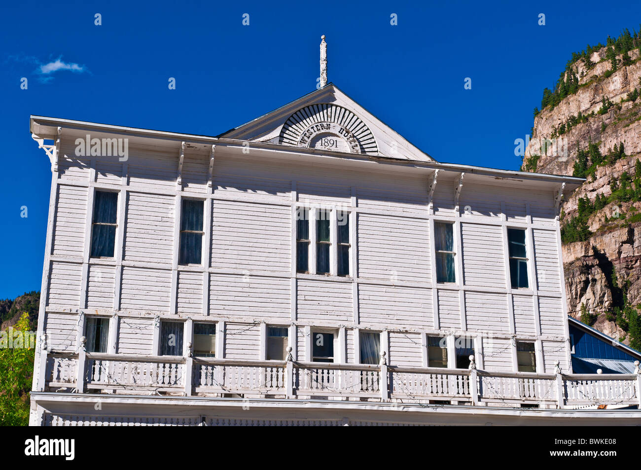 The historic Western Hotel, Ouray, Colorado - Stock Image