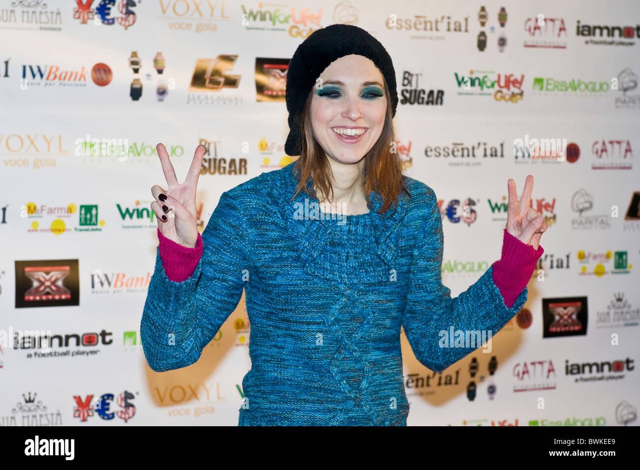 Nathalie, X Factor Red Carpet, Milan 2010 - Stock Image