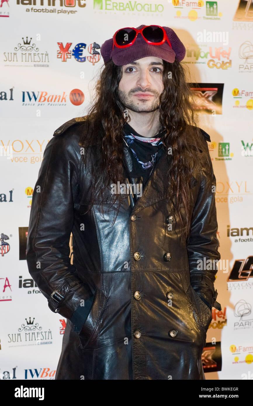 Nevruz, X Factor Red Carpet, Milan 2010 - Stock Image