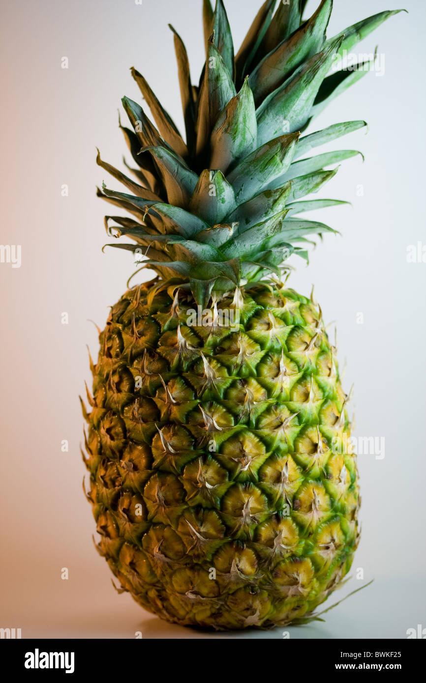 Whole Pineapple Fruit - Stock Image