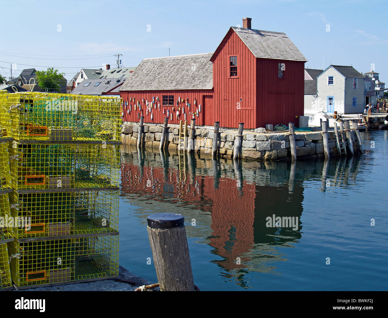 View of Motif #1 at Rockport - Stock Image