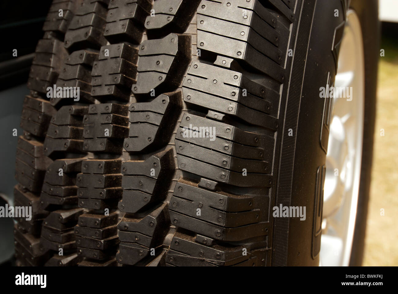 Chunky new off road tyre - Stock Image