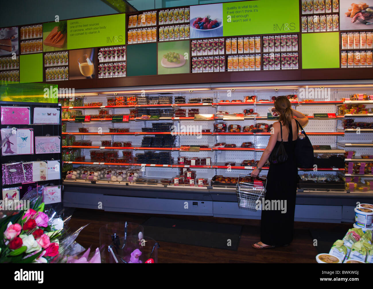 Fresh Fruits selection at Marks & Spencer shop - Stock Image