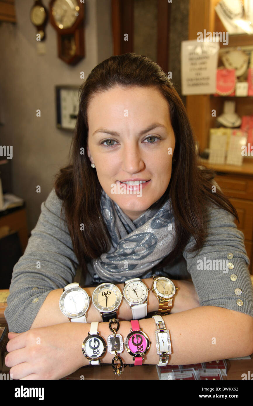 Dolce & Gabbana watches, Howell's Jewellers, Carrickmacross - Stock Image