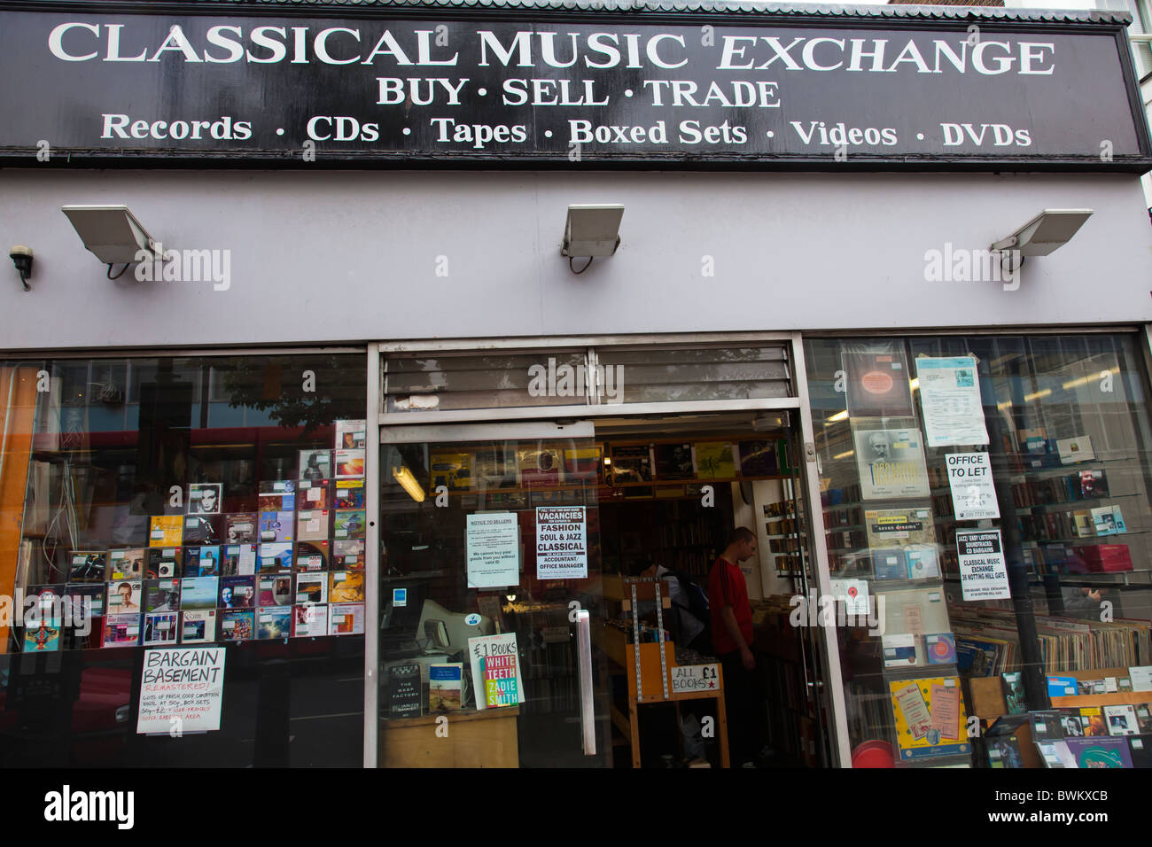 Records shop classical music cd shop - Stock Image