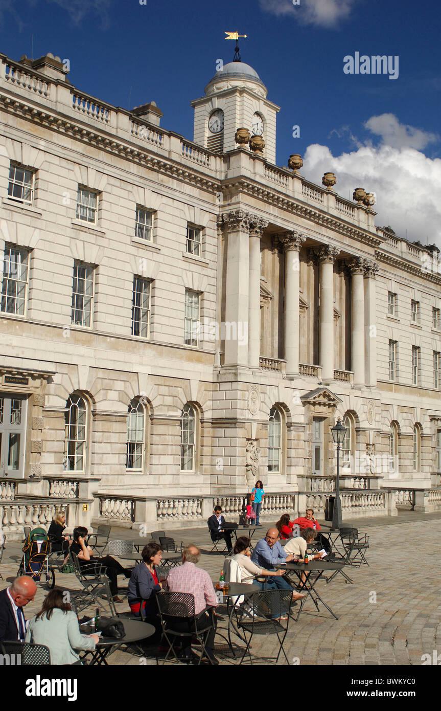 uk london somerset house strand great britain europe england stock