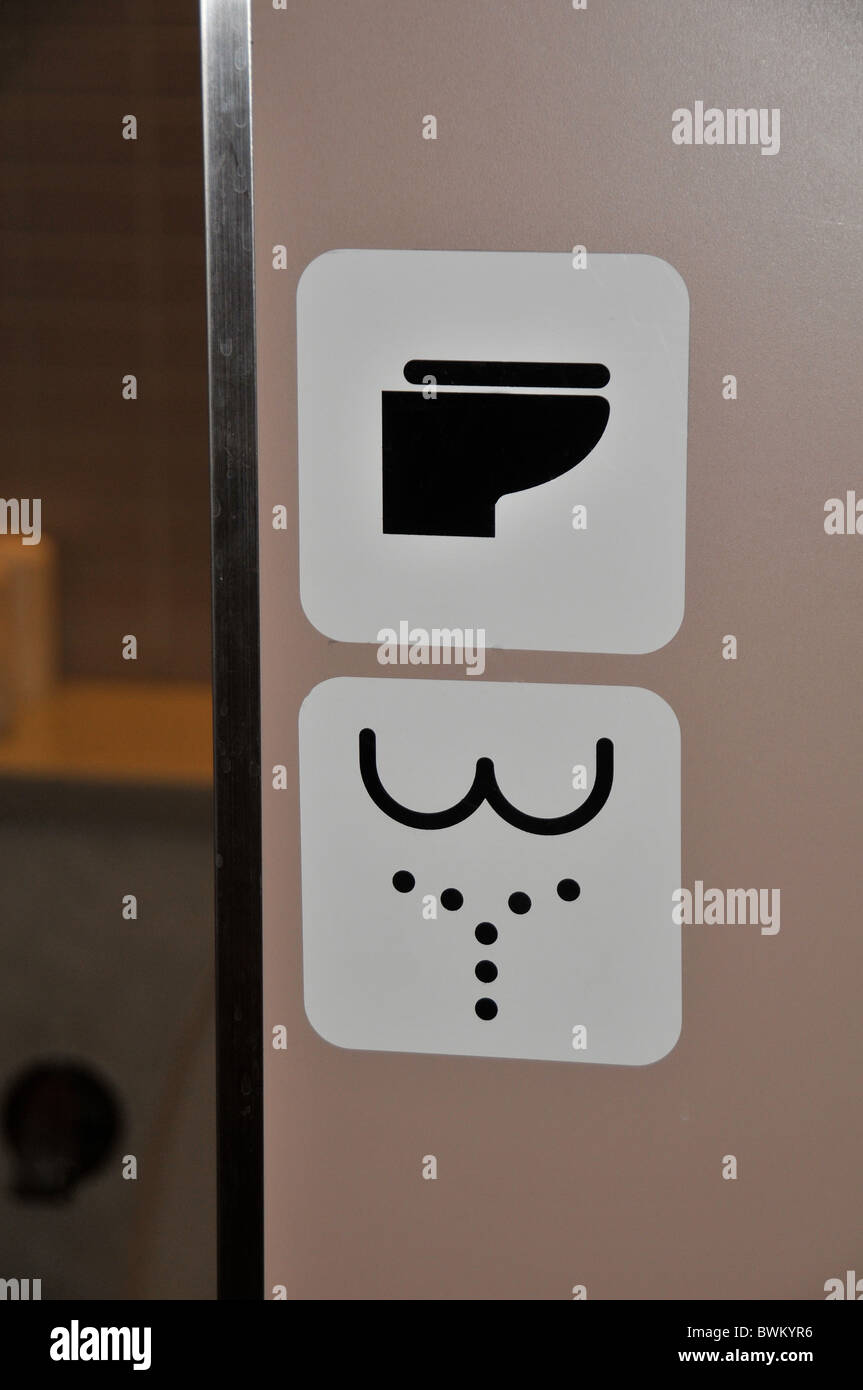 WC toilet sign, Japan - Stock Image