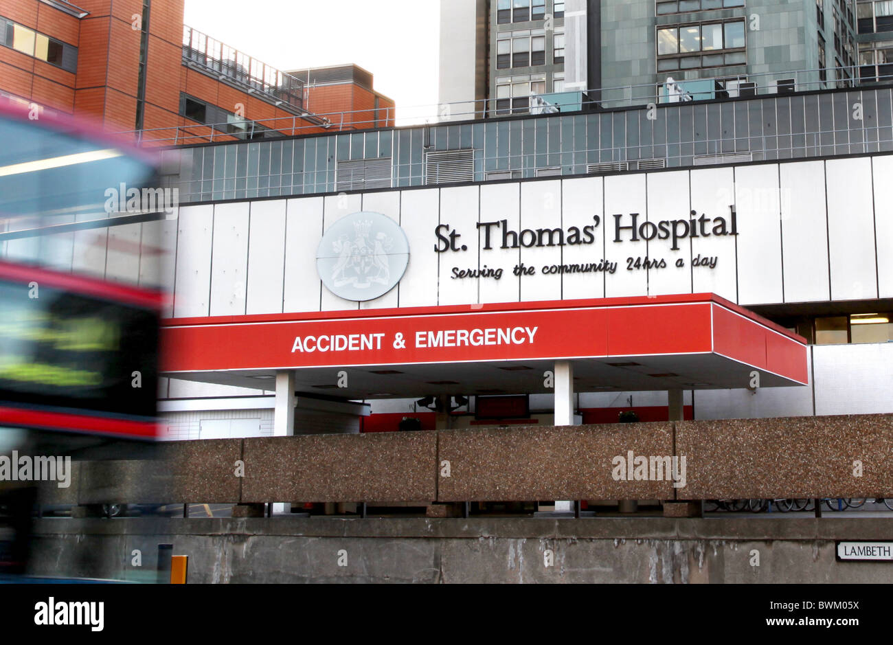 St. Thomas'  Hospital, London - Stock Image