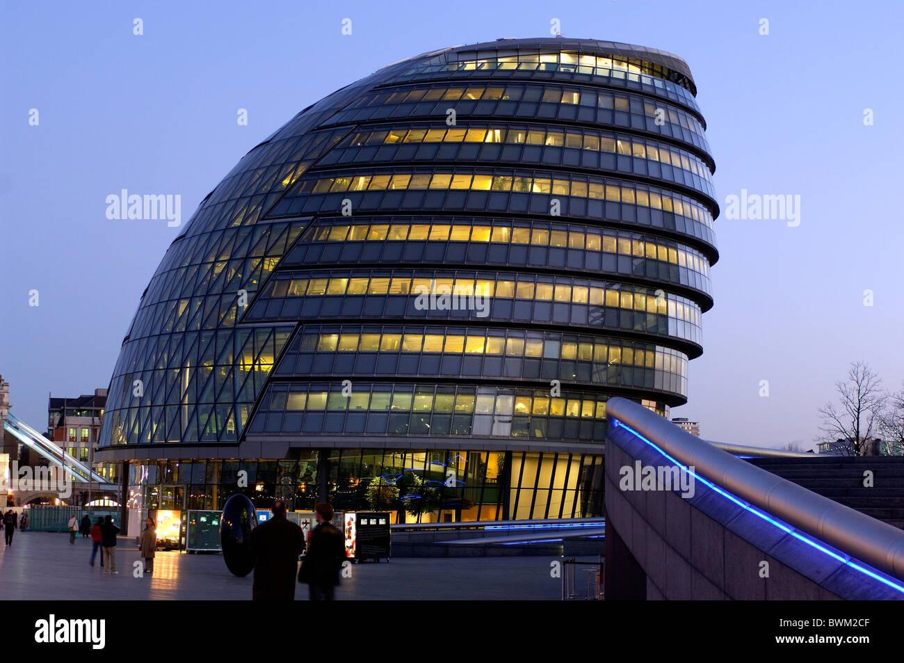UK London City Hall Greater London Authority Great Britain Europe United Kingdom England Europe Architecture - Stock Image